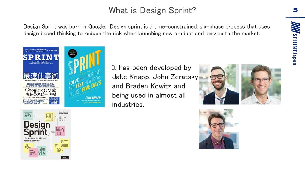 5 Design Sprint was born in Google. Design spri...