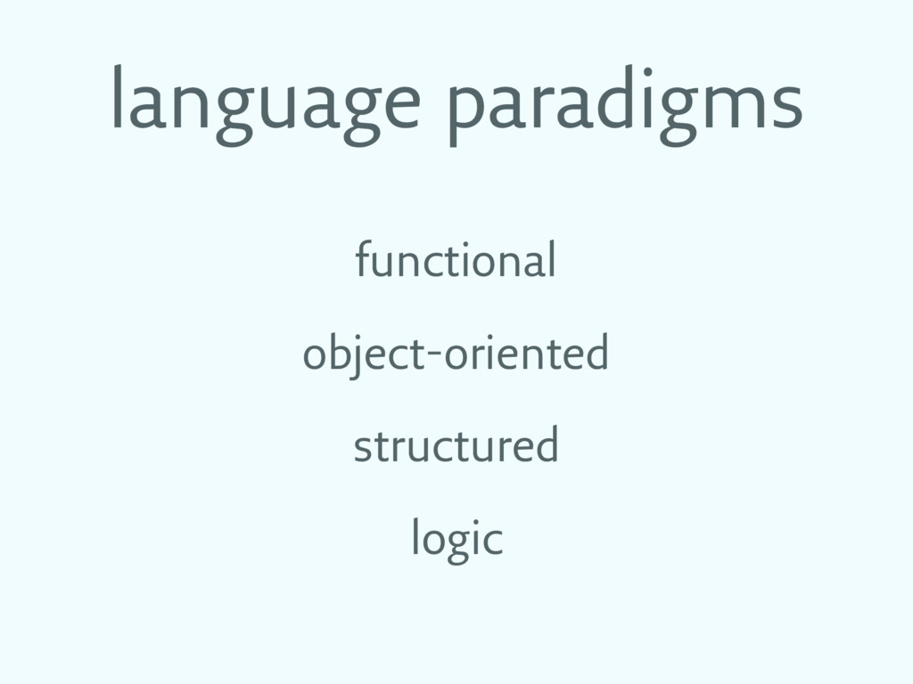 language paradigms functional object-oriented s...
