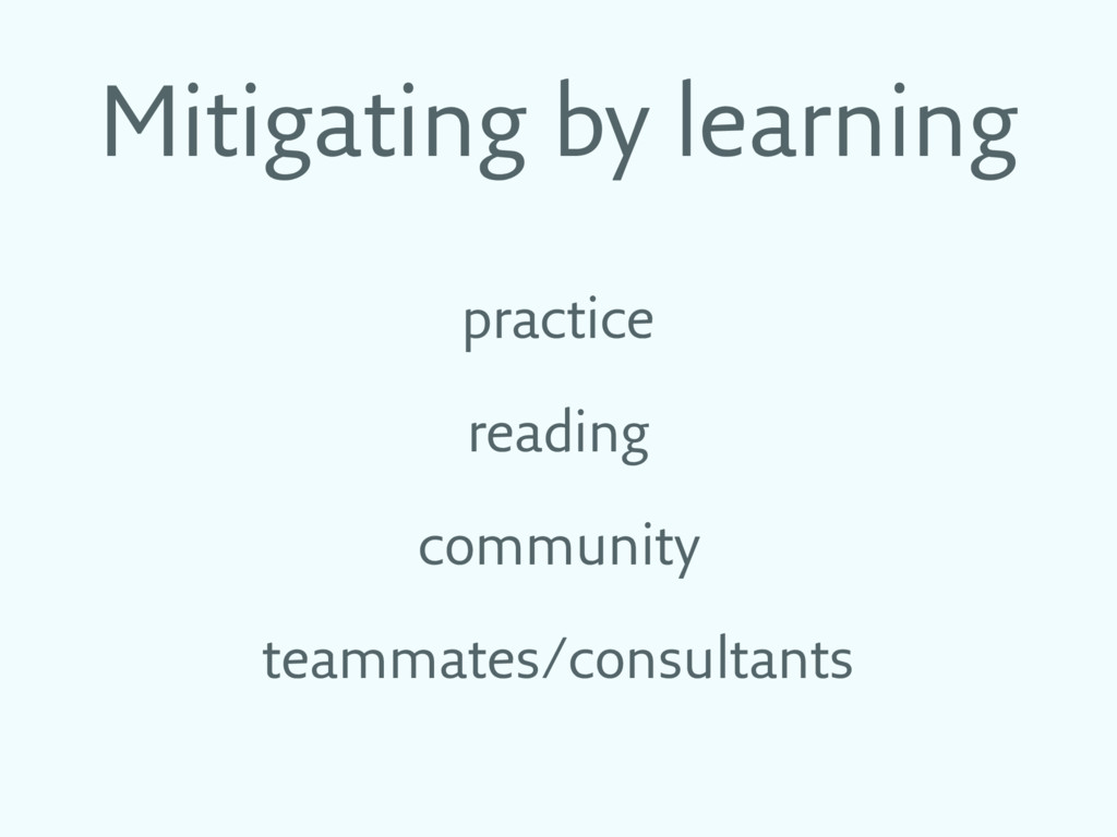 Mitigating by learning practice reading communi...