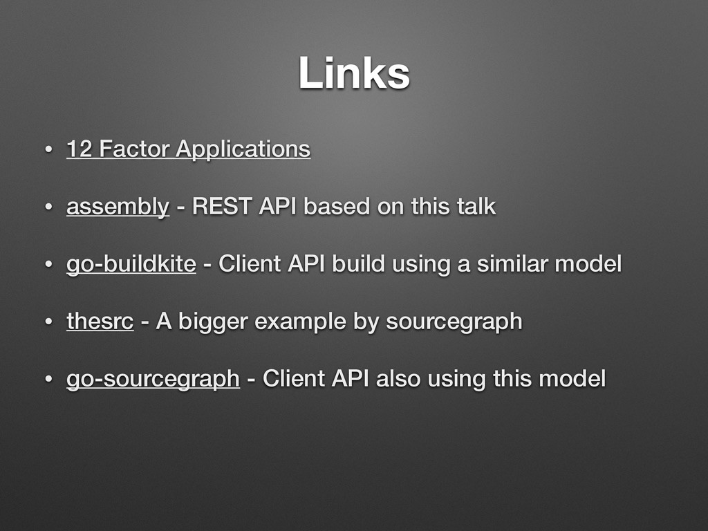 Links • 12 Factor Applications • assembly - RES...