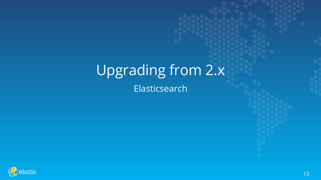 Upgrading from 2.x Elasticsearch 13