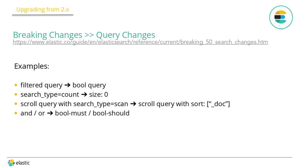 Examples: • filtered query ➔ bool query • searc...