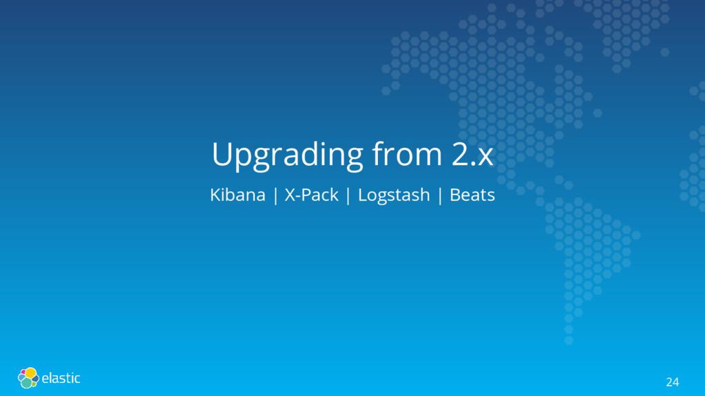Upgrading from 2.x Kibana | X-Pack | Logstash |...