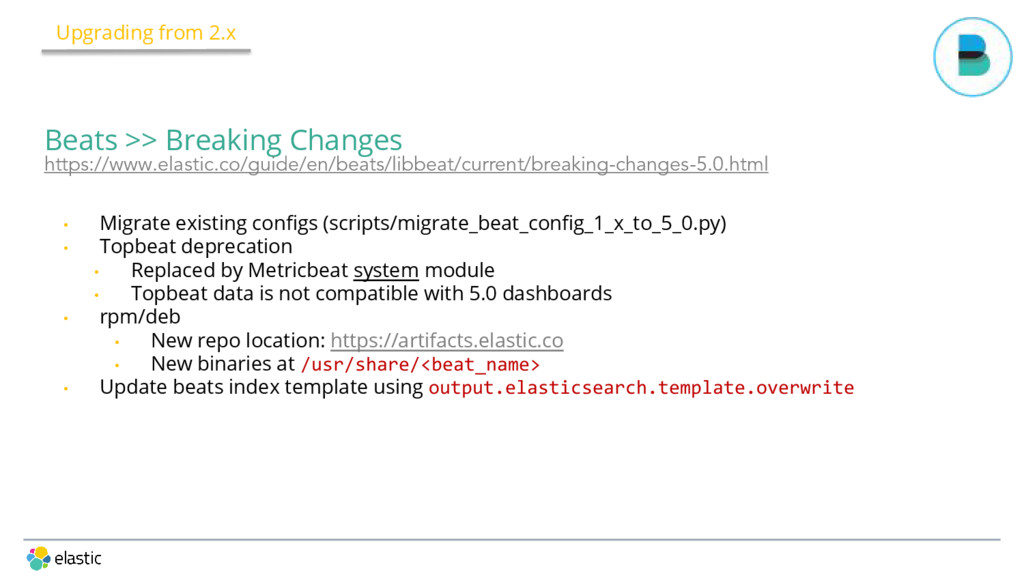 • Migrate existing configs (scripts/migrate_bea...