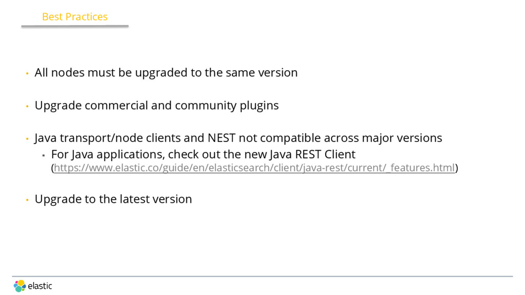 • All nodes must be upgraded to the same versio...