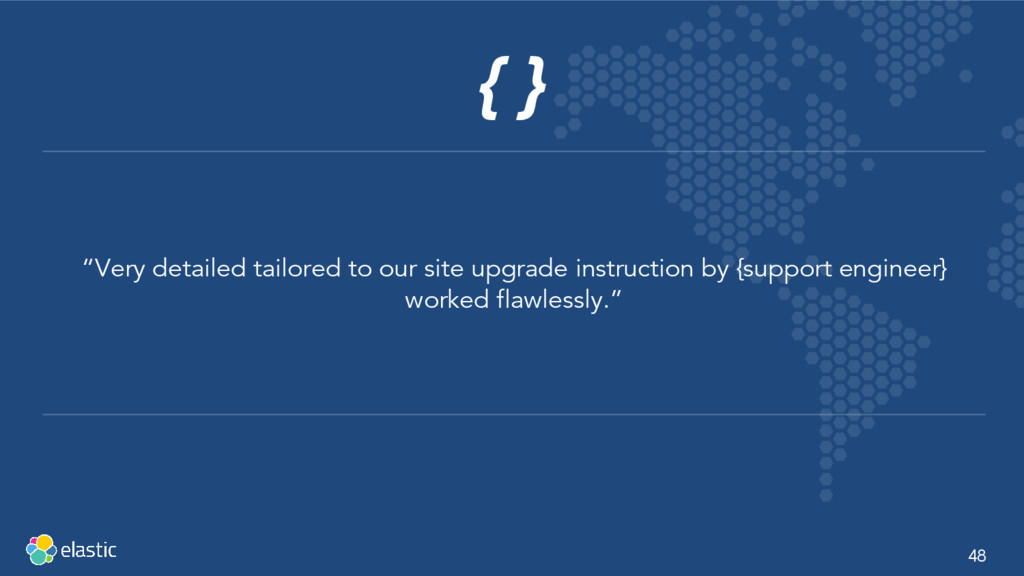 """48 { } """"Very detailed tailored to our site upgr..."""