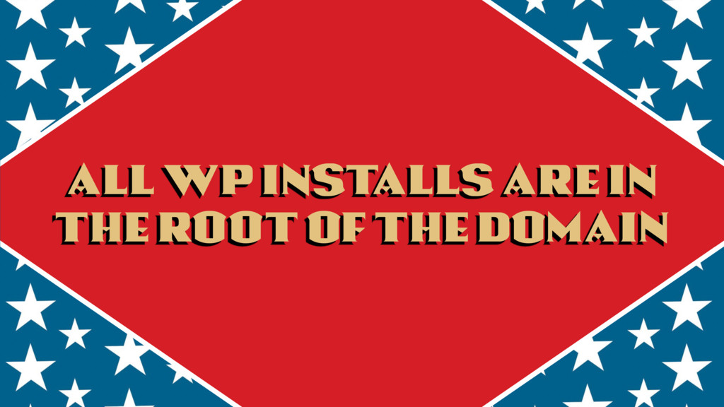 All WP installs are in the root of the domain