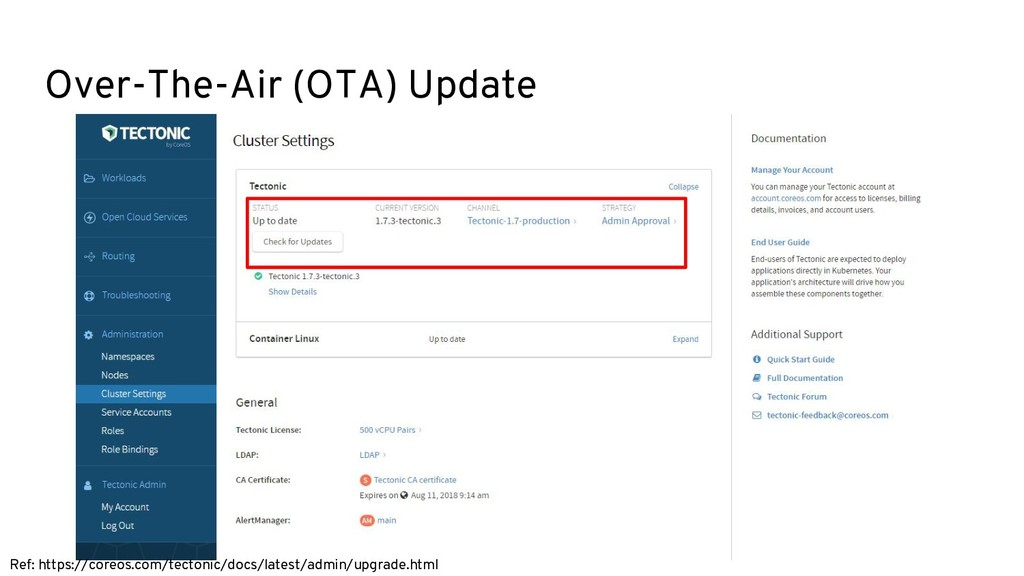 Over-The-Air (OTA) Update Ref: https://coreos.c...