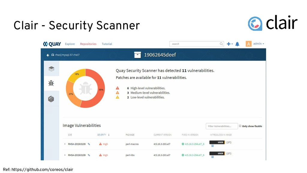 Clair - Security Scanner Ref: https://github.co...