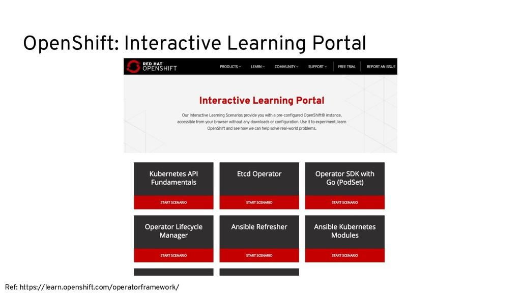 OpenShift: Interactive Learning Portal Ref: htt...