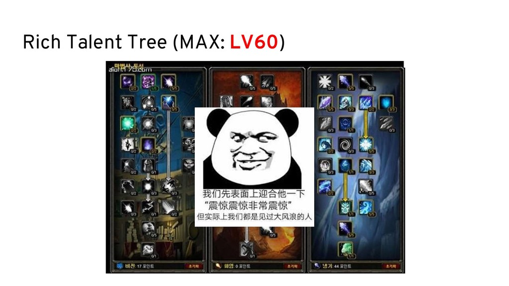 Rich Talent Tree (MAX: LV60)