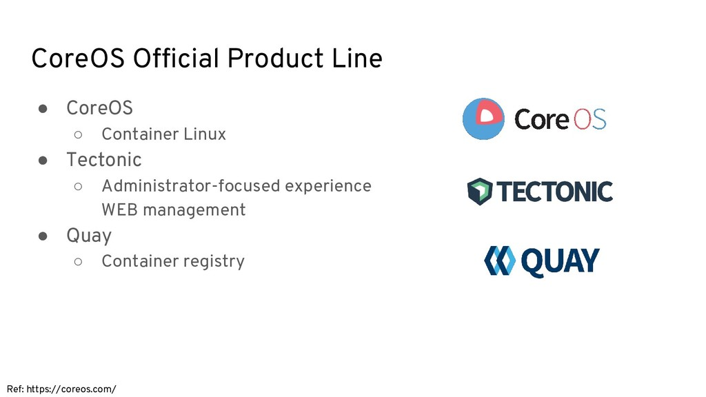 CoreOS Official Product Line Ref: https://coreo...