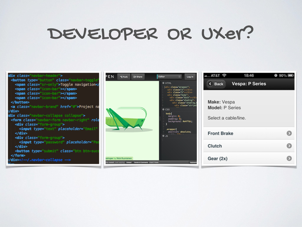 DEVELOPER OR UXer?