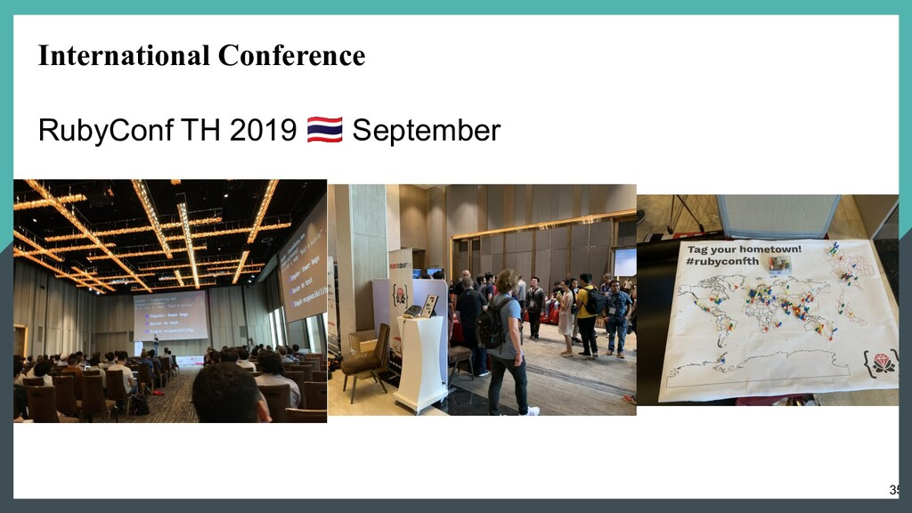 35 International Conference RubyConf TH 2019  S...