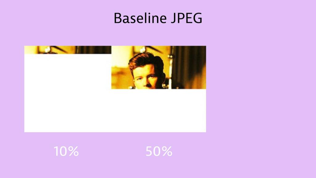Baseline JPEG 10% 50%