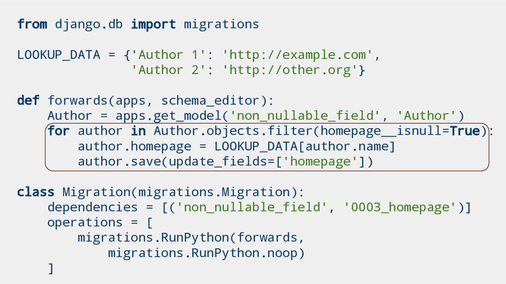 from django.db import migrations LOOKUP_DATA = ...