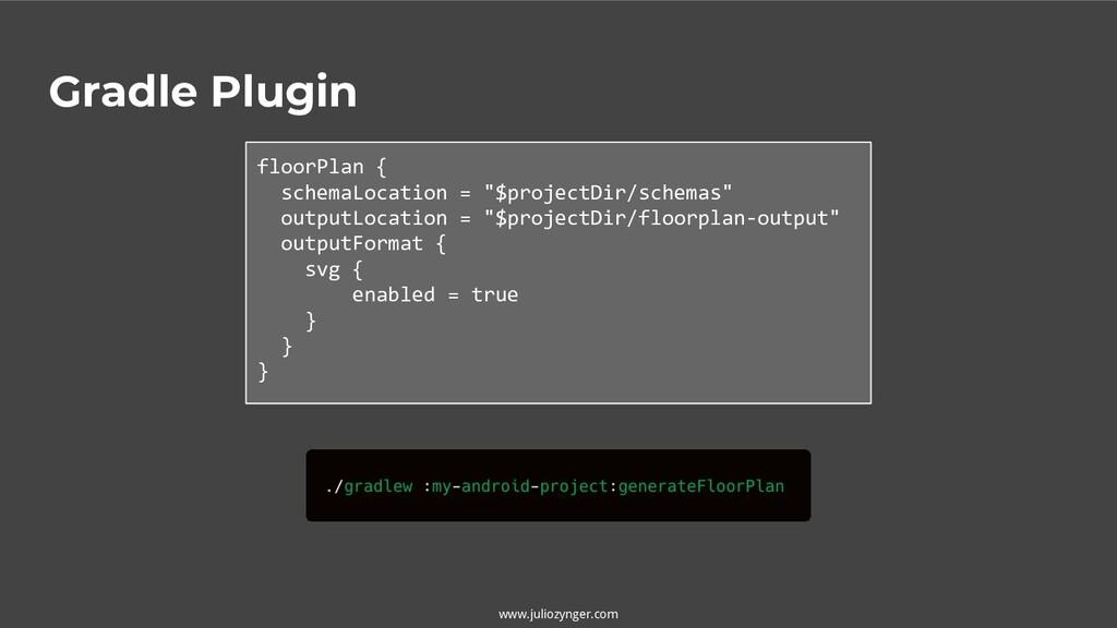 www.juliozynger.com Gradle Plugin floorPlan { s...