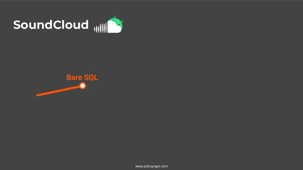 SoundCloud Bare SQL www.juliozynger.com