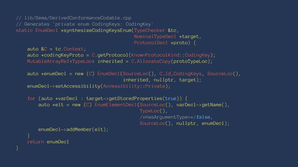 // lib/Sema/DerivedConformanceCodable.cpp // Ge...