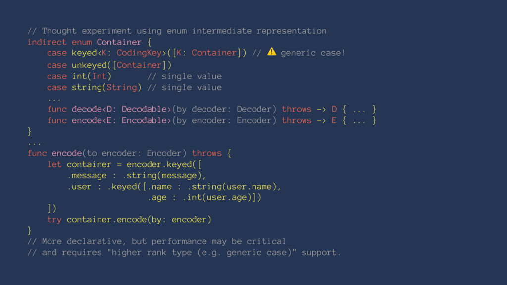// Thought experiment using enum intermediate r...