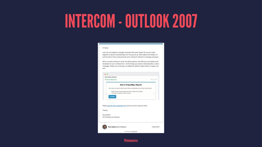INTERCOM - OUTLOOK 2007 @leemunroe