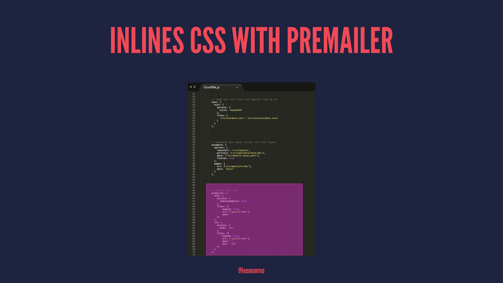 INLINES CSS WITH PREMAILER @leemunroe