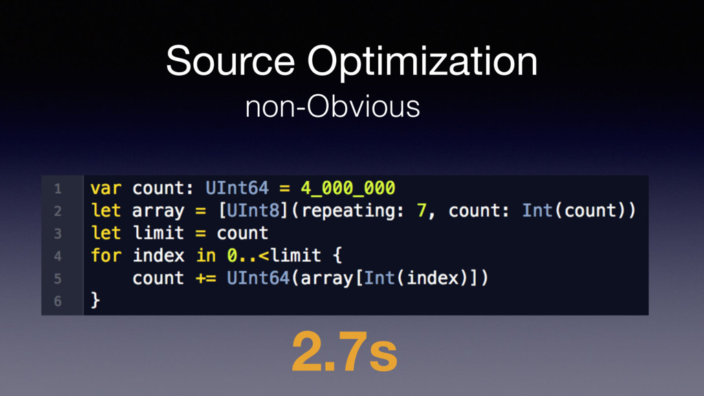 Source Optimization non-Obvious 2.7s