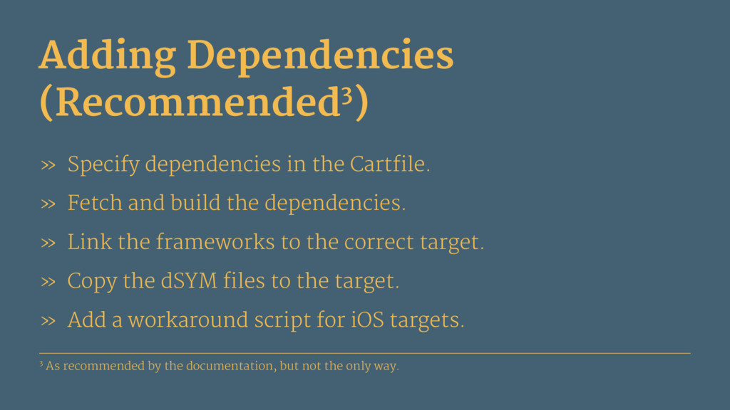 Adding Dependencies (Recommended3) » Specify de...