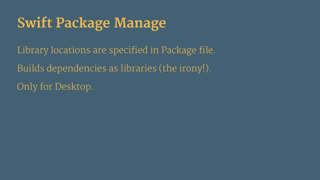 Swift Package Manage Library locations are spec...