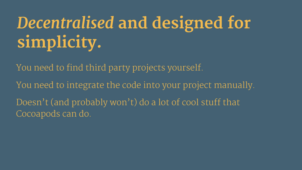 Decentralised and designed for simplicity. You ...