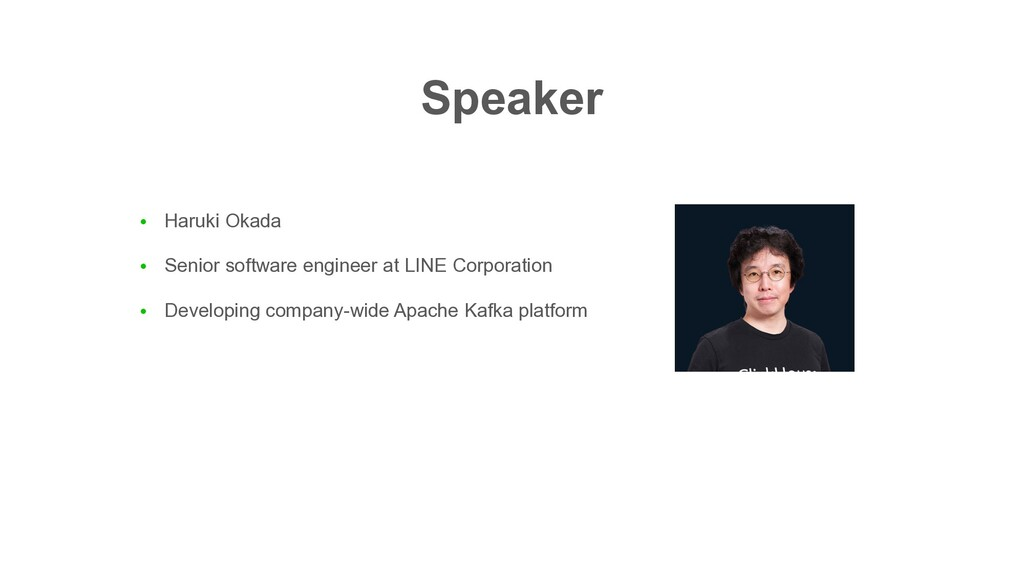 ● Haruki Okada ● Senior software engineer at LI...