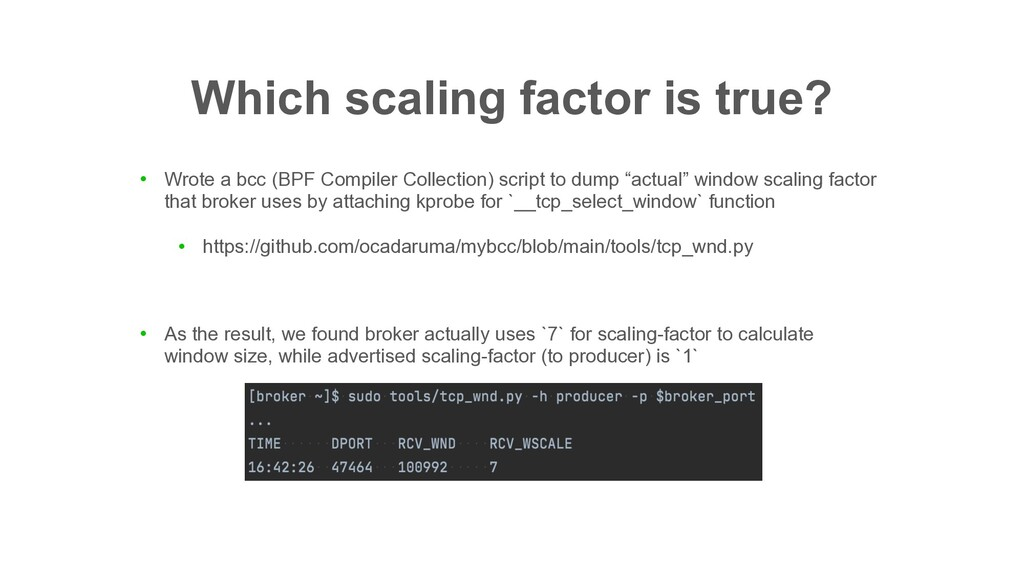 Which scaling factor is true? ● Wrote a bcc (BP...