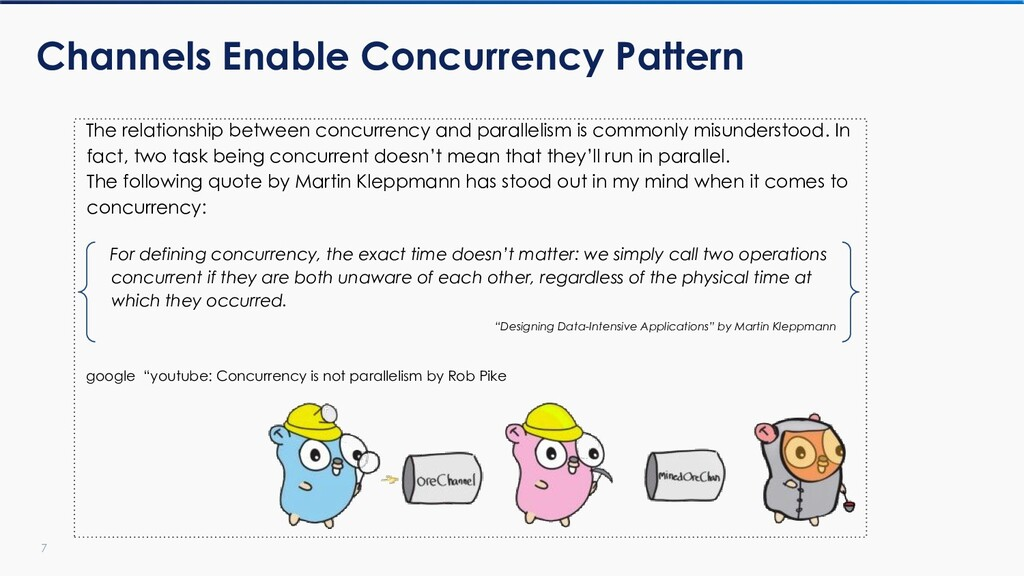 7 Channels Enable Concurrency Pattern The relat...