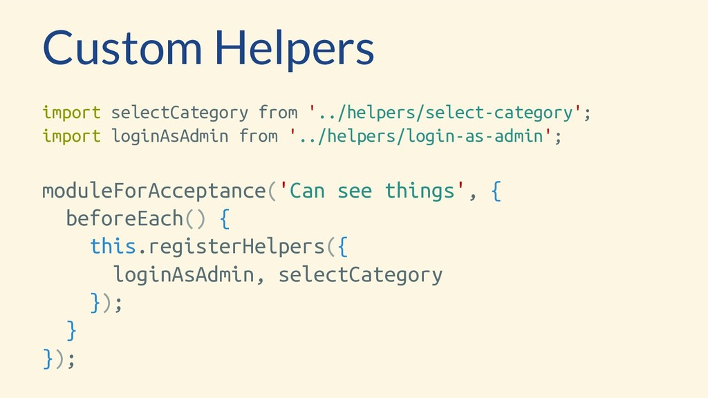 Custom Helpers import selectCategory from '../h...