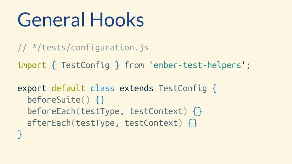 General Hooks // */tests/configuration.js impor...