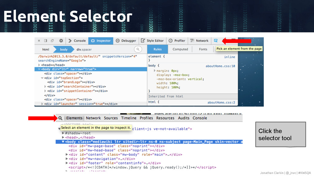 Element Selector Click the selector tool Jonath...