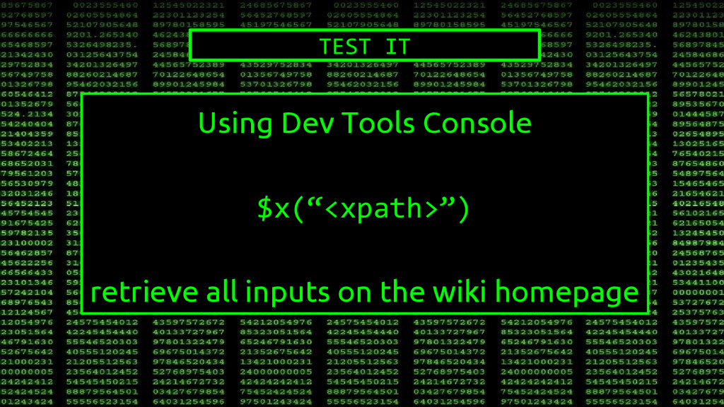 "Using Dev Tools Console $x(""<xpath>"") retrieve ..."