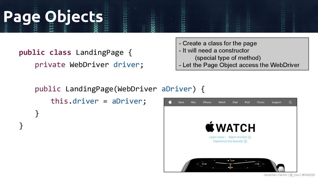 public class LandingPage { private WebDriver dr...
