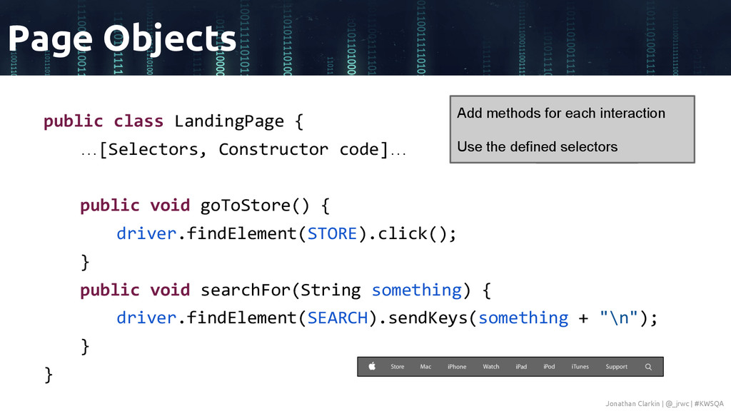 public class LandingPage { …[Selectors, Constru...