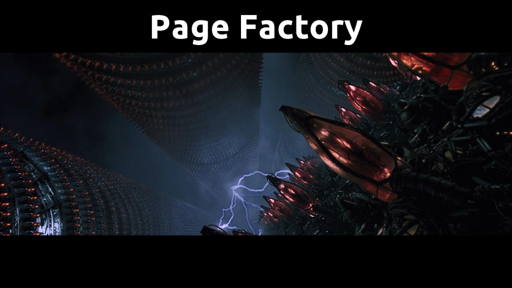 Page Factory