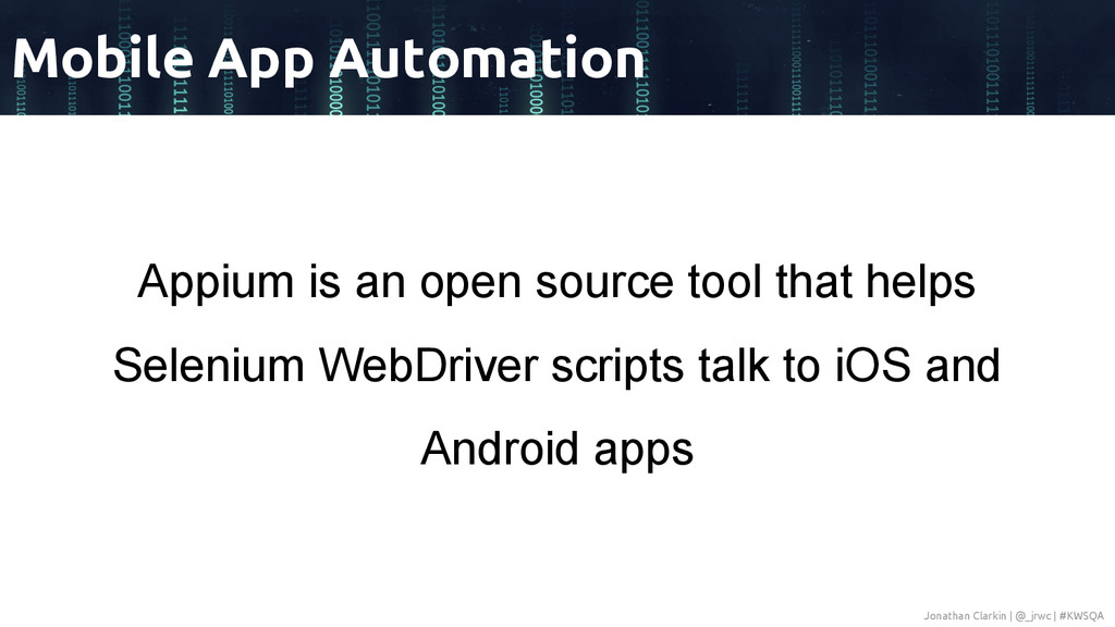 Appium is an open source tool that helps Seleni...