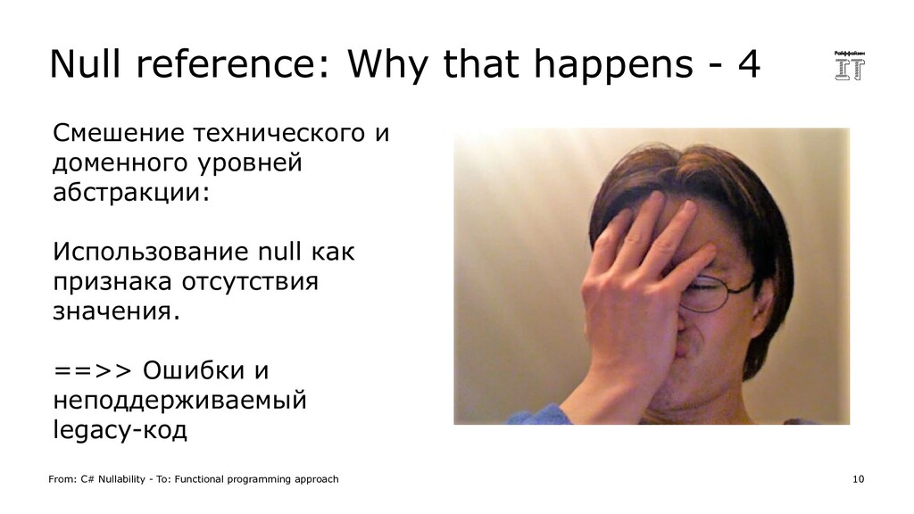 Null reference: Why that happens - 4 From: C# N...