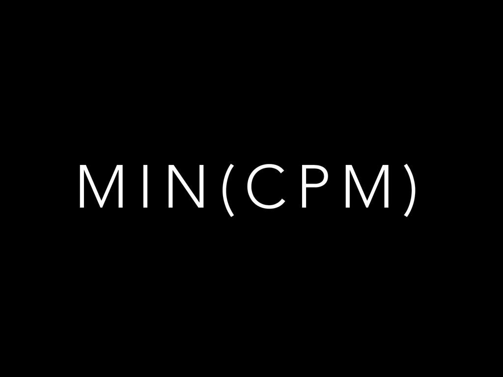 M I N ( C P M )