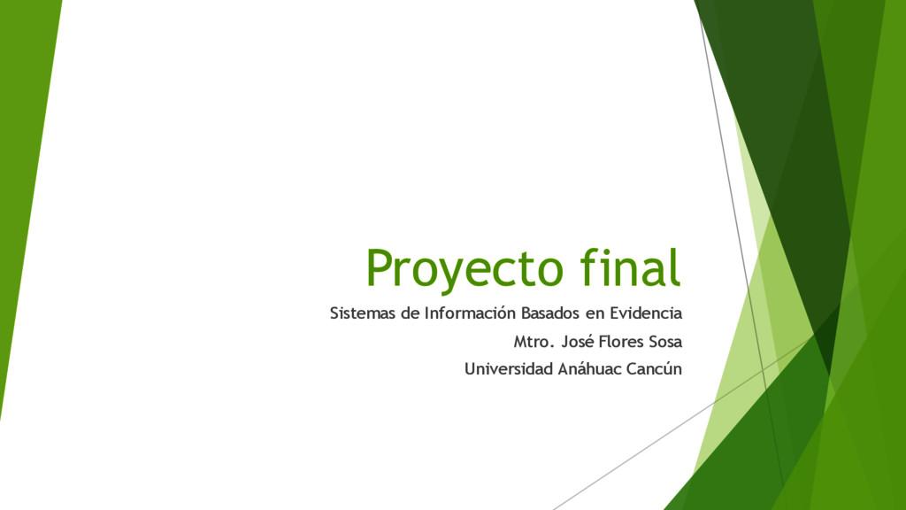 Proyecto final Sistemas de Información Basados ...