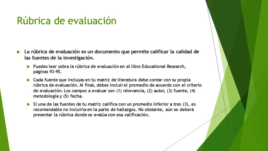 Rúbrica de evaluación u La rúbrica de evaluació...