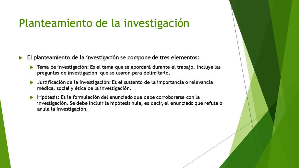 Planteamiento de la investigación u El planteam...