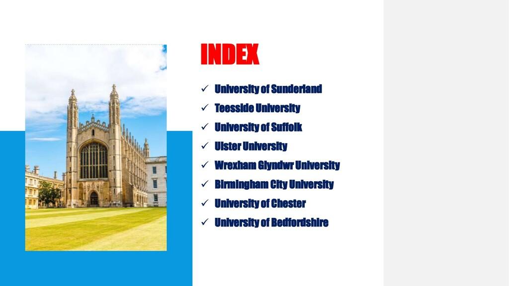  University of Sunderland  Teesside Universit...