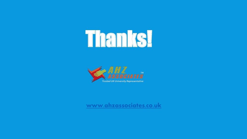 Thanks! www.ahzassociates.co.uk