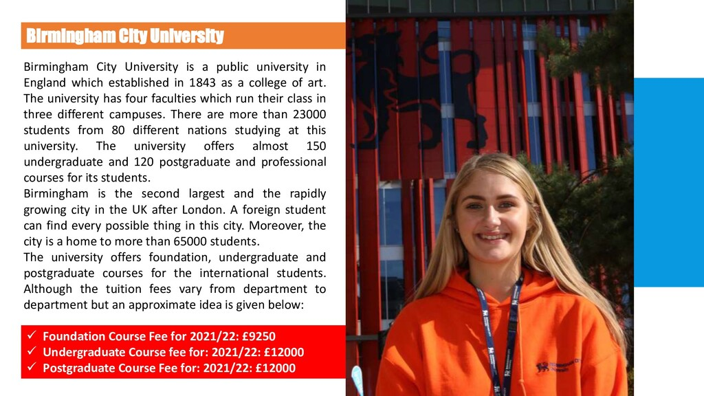 Birmingham City University Birmingham City Univ...