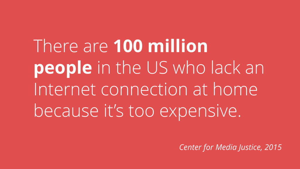 There are 100 million people in the US who lack...